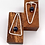 """Thumbnail:  """"See Saw"""" Silver Earrings with Lapis Lazuli."""