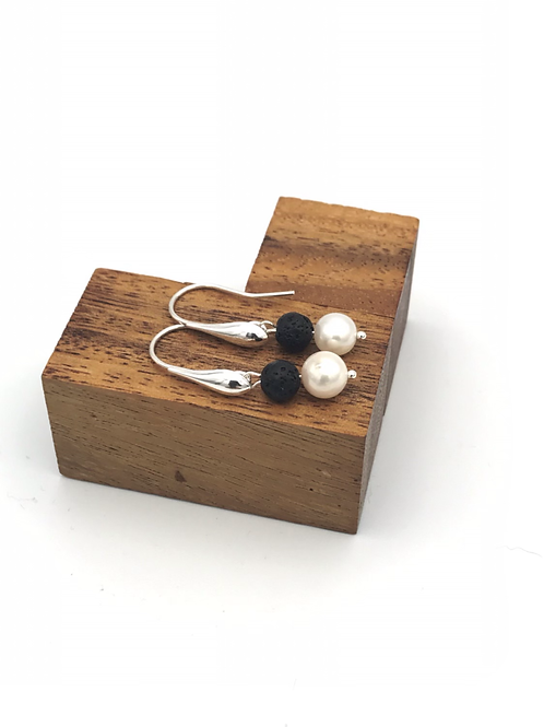 """Black and White"" Earrings."