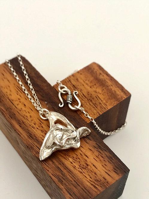 """Wishbone"" Silver Pendant. Sterling Silver Pendant"