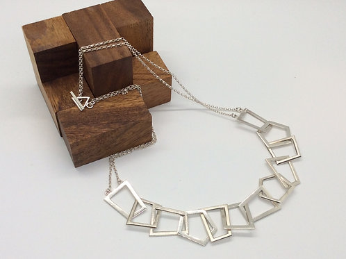 """Zest"" 12 Piece Silver Chain Necklace"