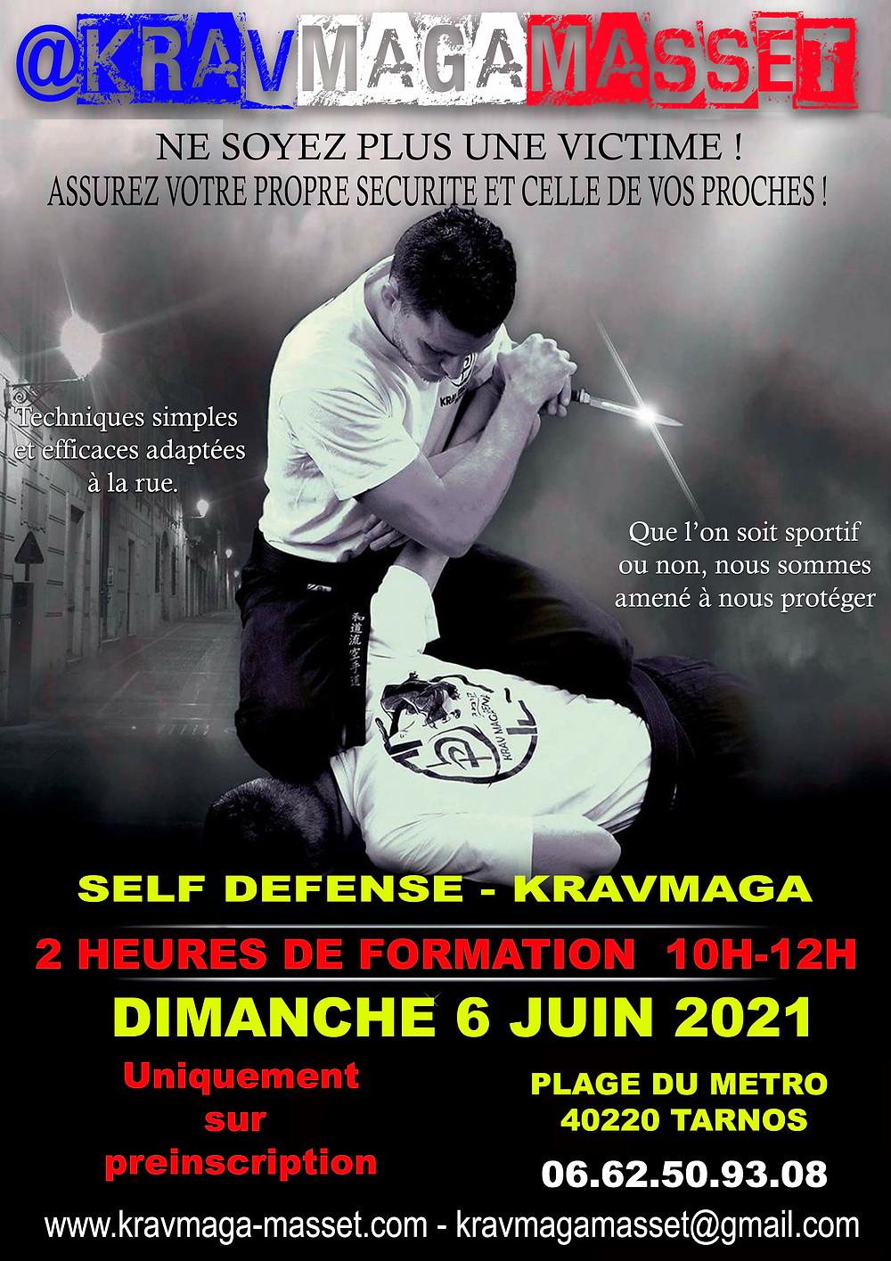 Stage krav maga et self défense par David Masset, ceinture noire 3eme Dan