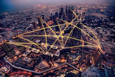 aerial-view-city-night-social-media-conn