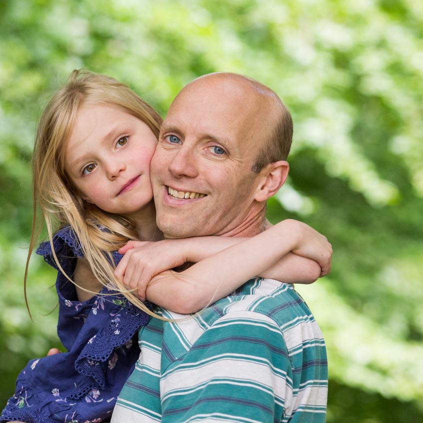 Father Daughter Portrait Box Hill