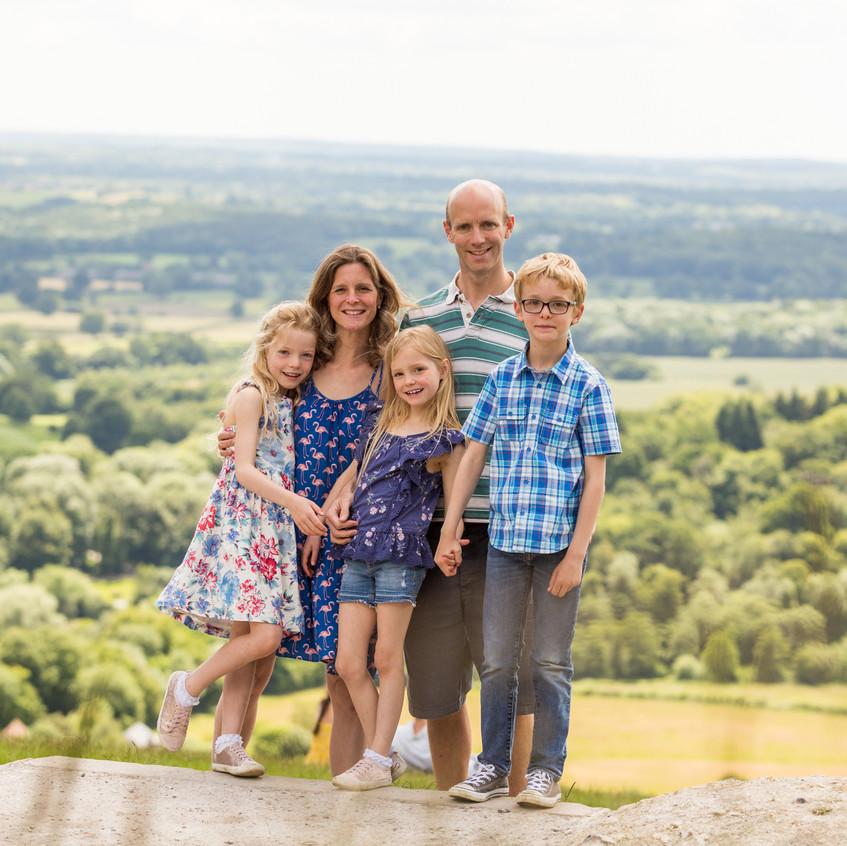 Family Portrait Box Hill View Point