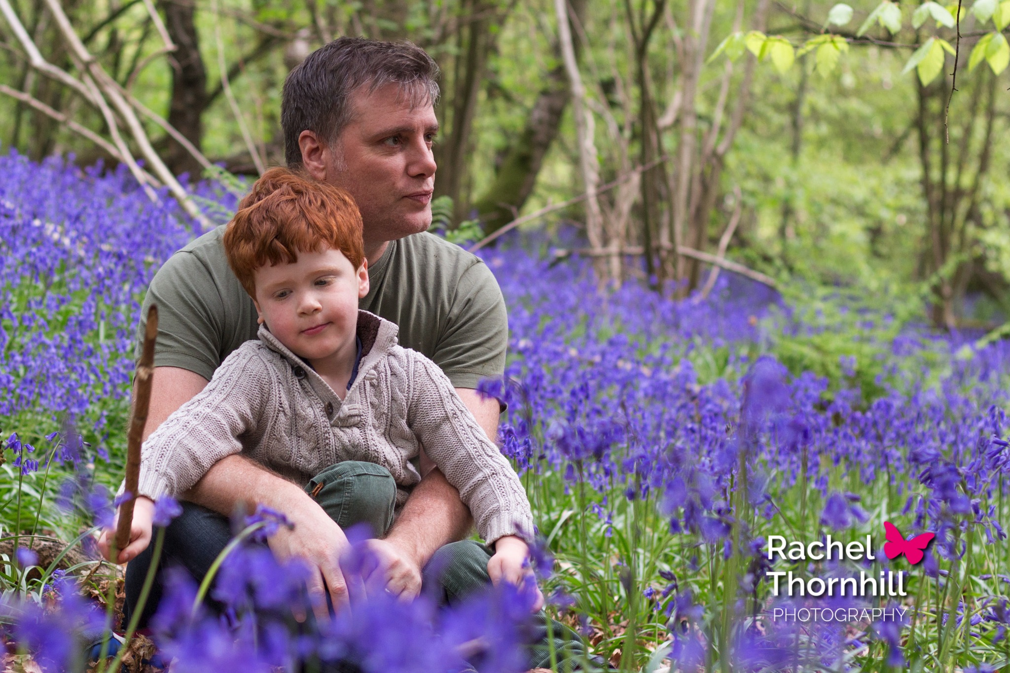 Fathers' Day Father Son Bluebells