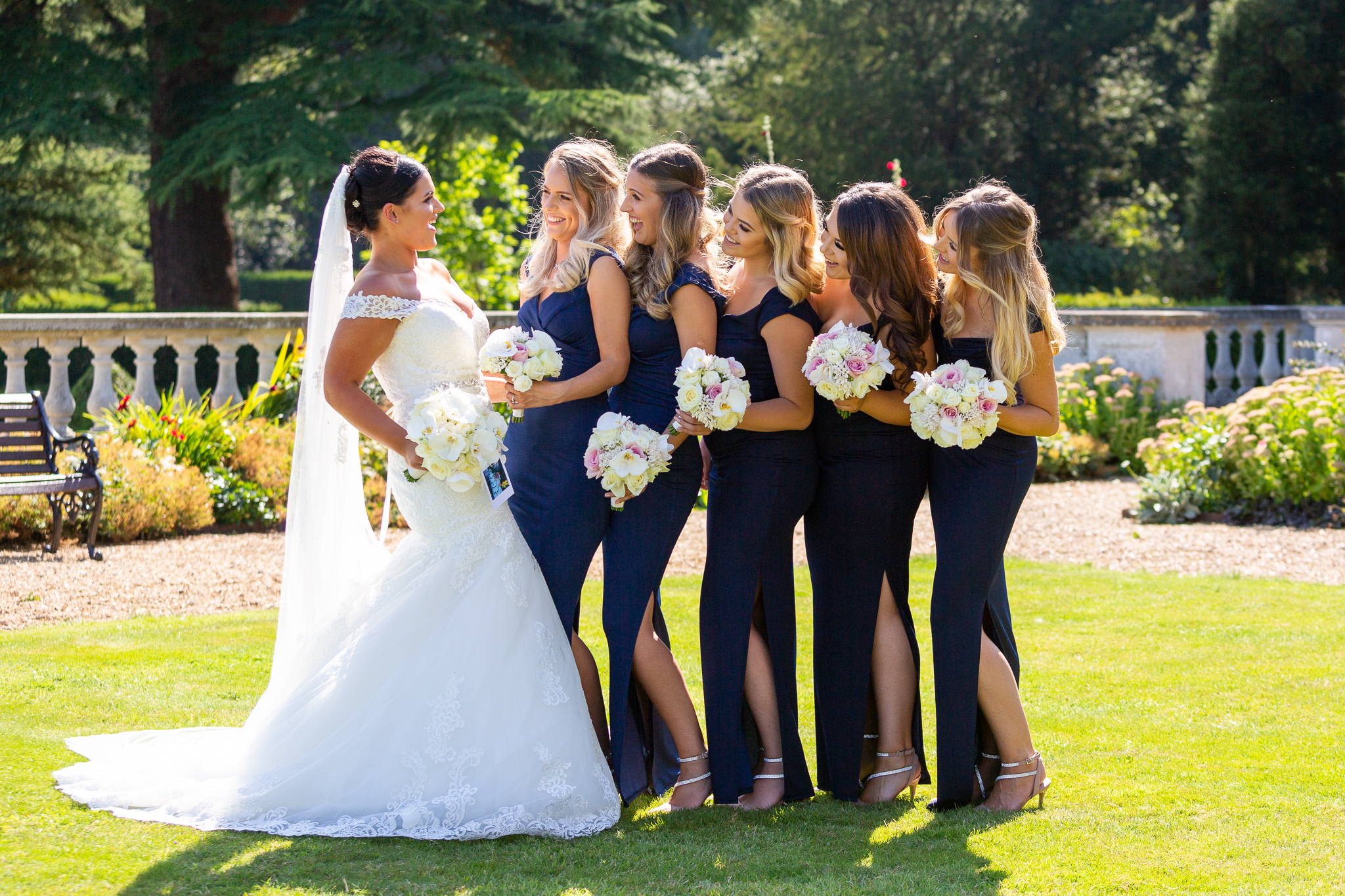 Bride_Bridesmaids_fun_natural_wedding_photography_Rachel_Thornhill_Photographer