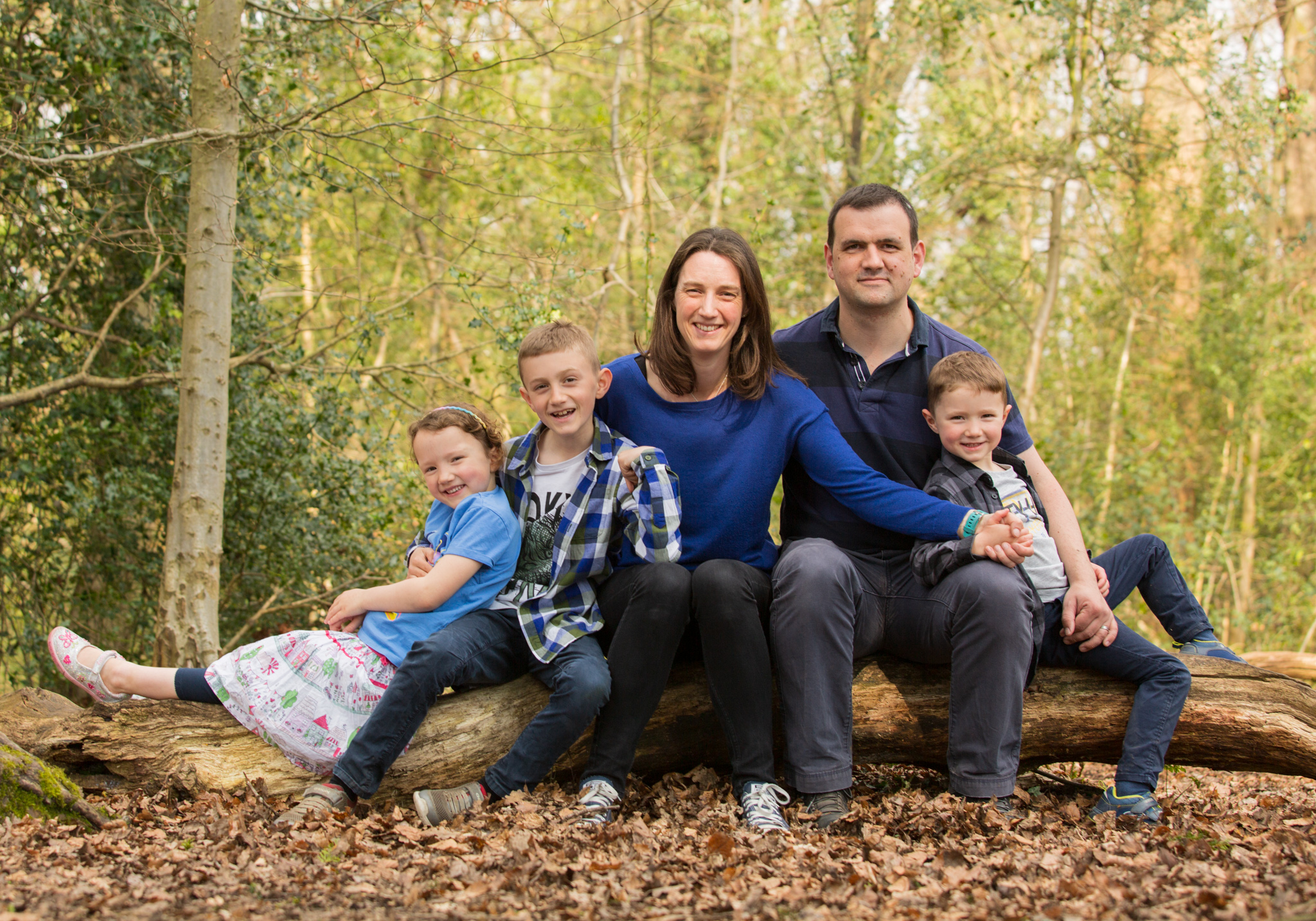 Family of 5 Portrait on Box Hill