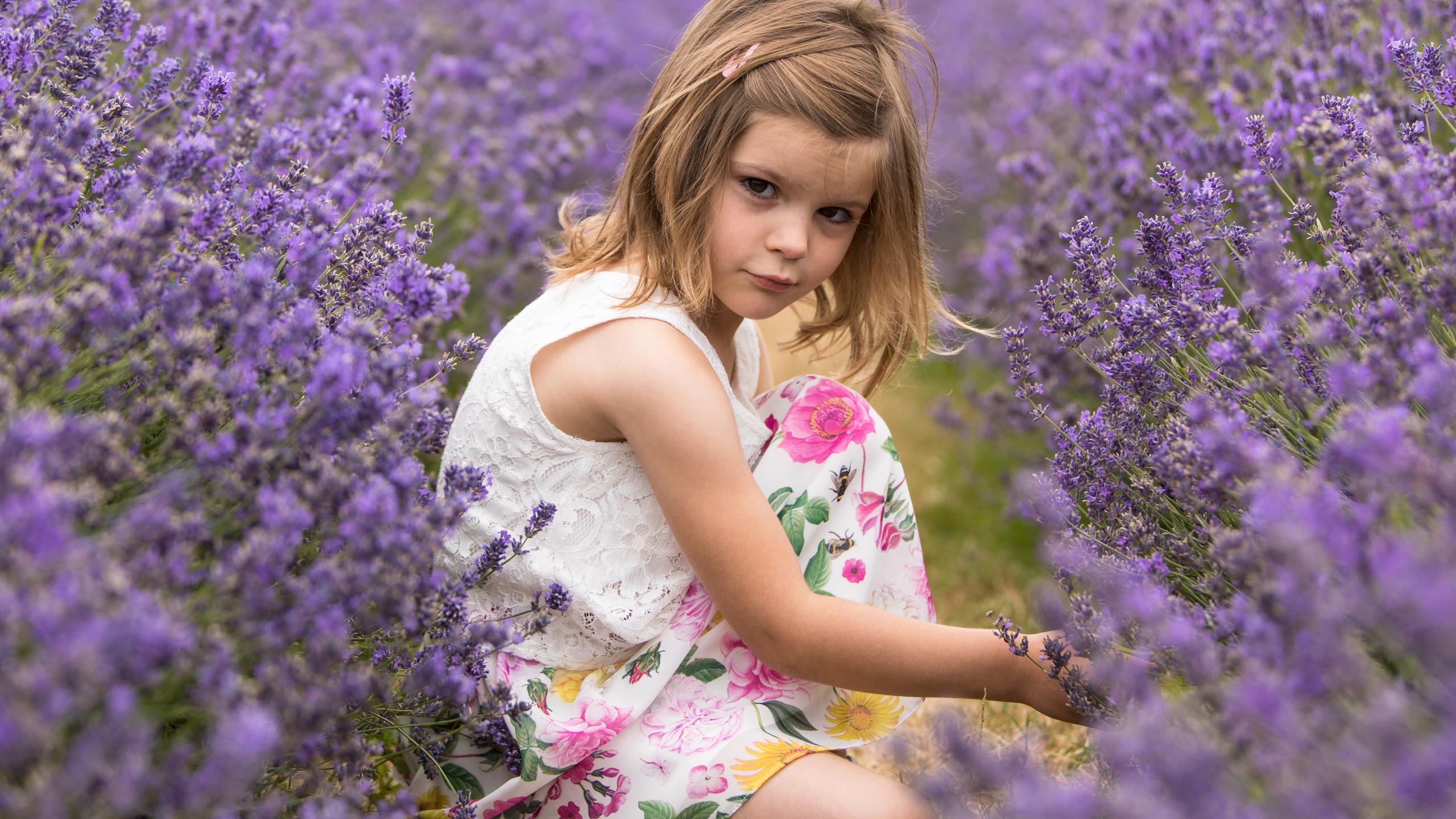 Girl in Lavender in floral dress