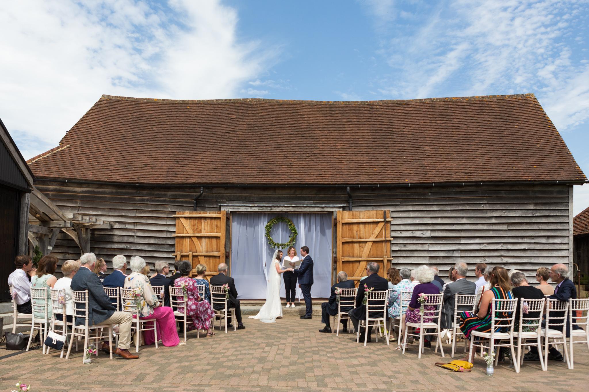 Wedding_Ceremony_Old_Greens_Barn_Newdigate_Surrey_Wedding_Photographer_Rachel_Thornhill_Photography