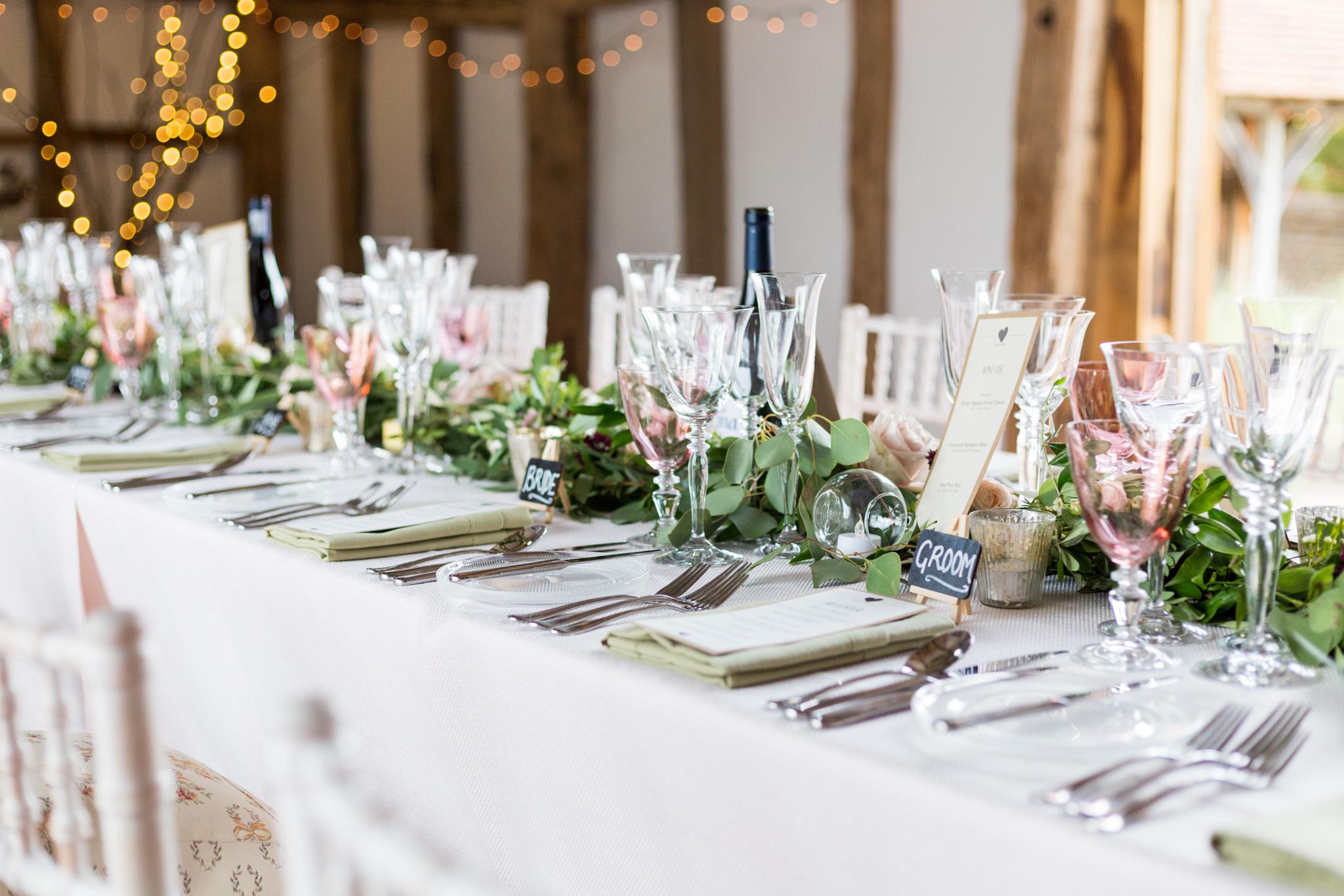 Surrey_Barn_Wedding_Table_prep_fun_natural_wedding_photography_Rachel_Thornhill_Photographer