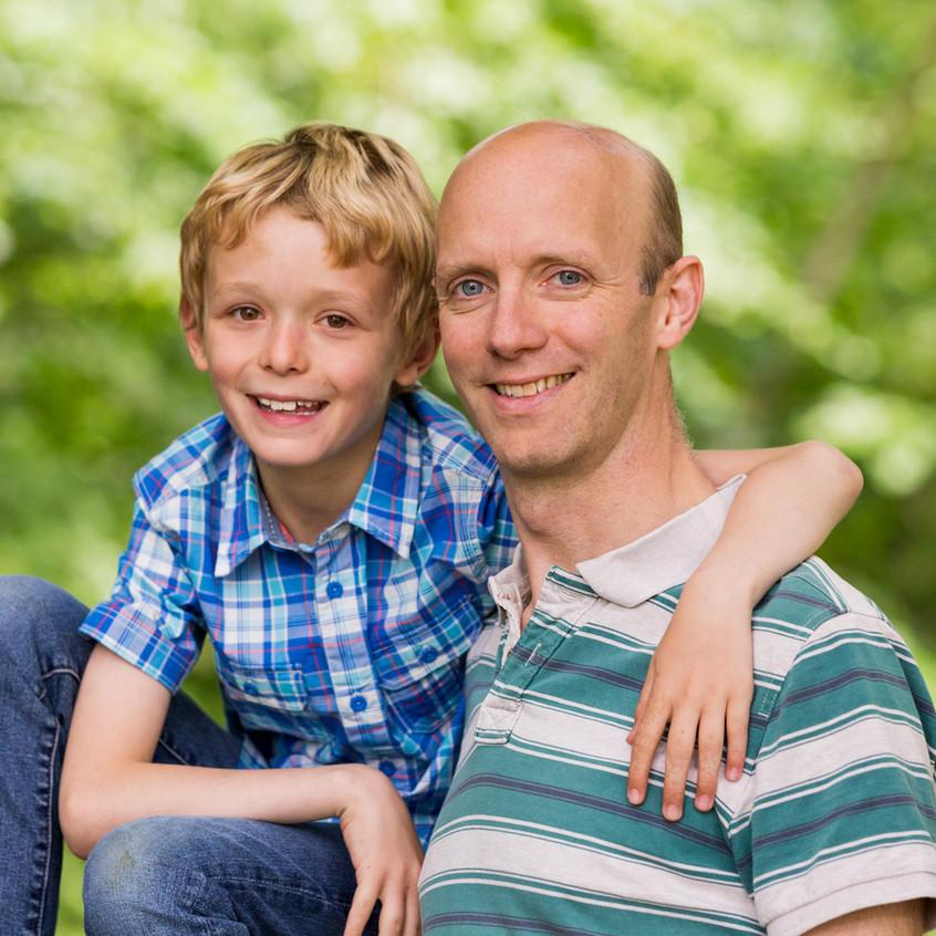 Father Son Portrait Box Hill