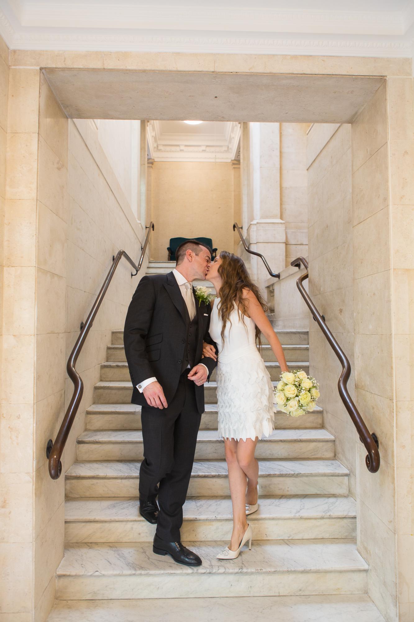 Just_Married_Marylebone_Registry_Office_London_Wedding_Group_Natural_Fun_Rachel_Thornhill_Photograph