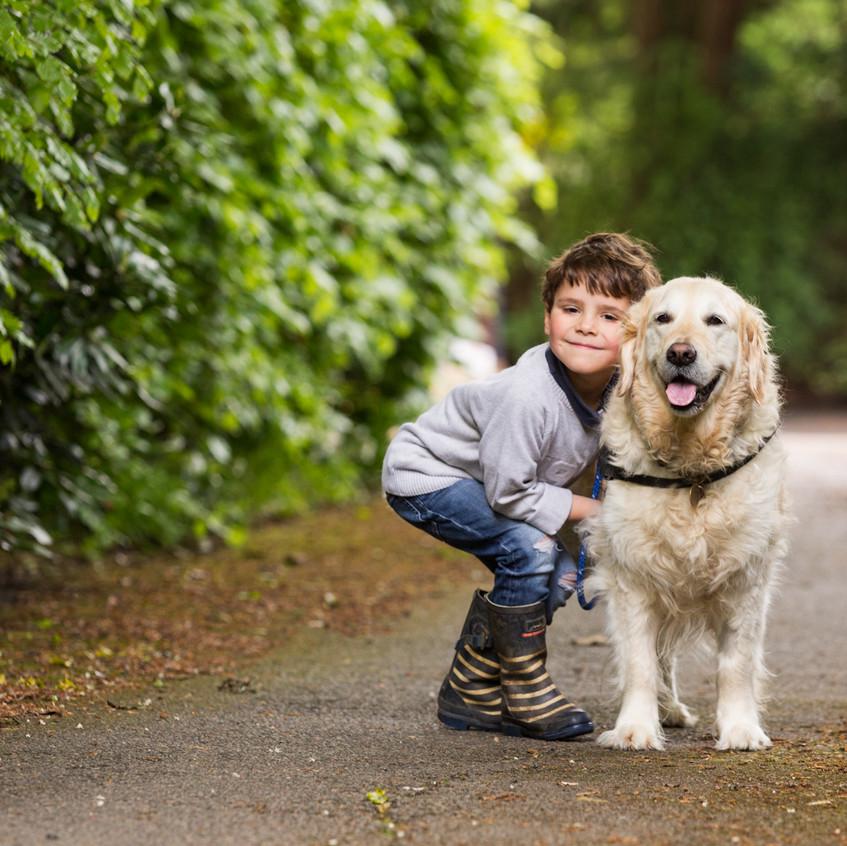 Boy and Dog Portrait Surrey