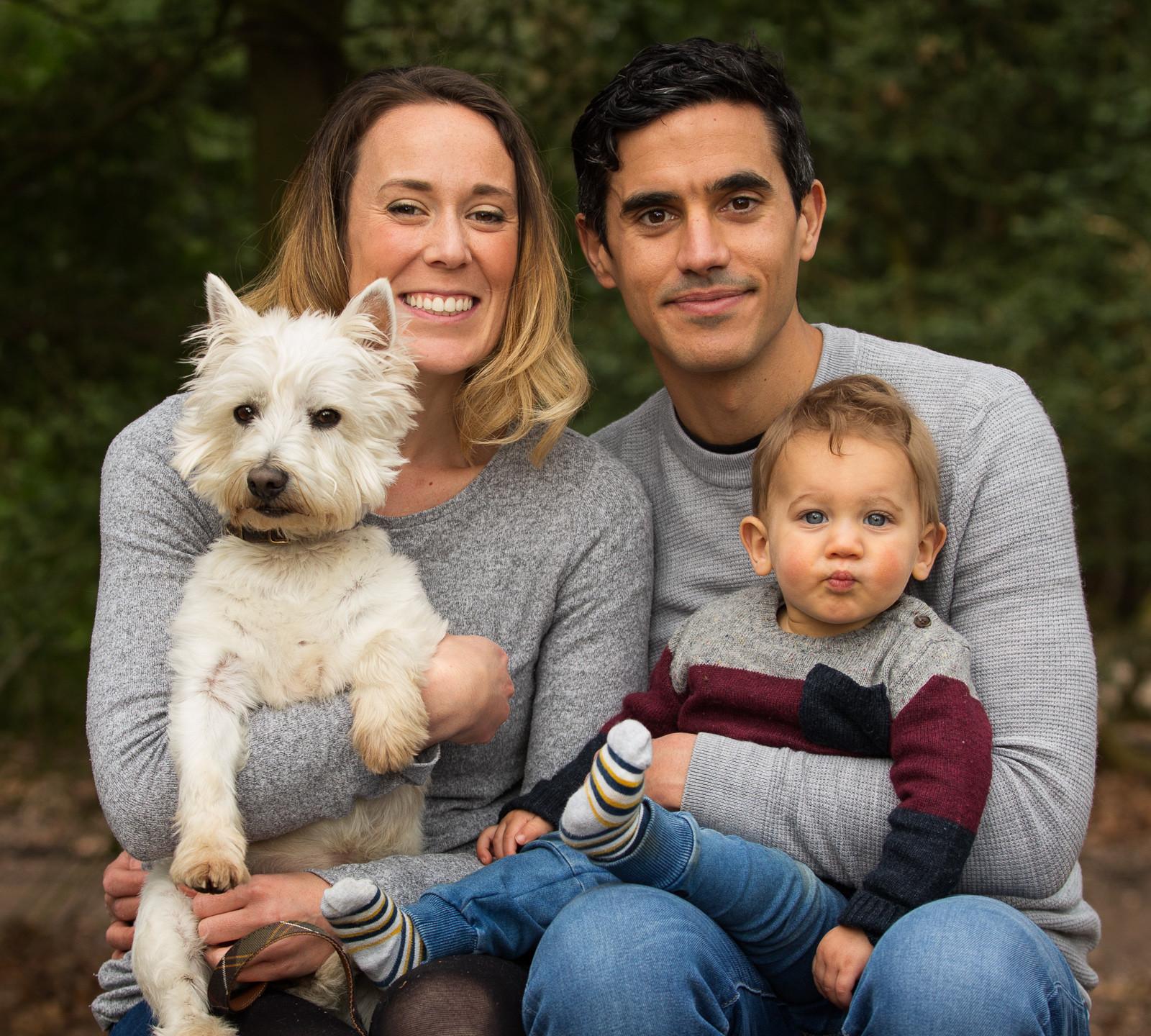 Family Toddler Dog Portrait