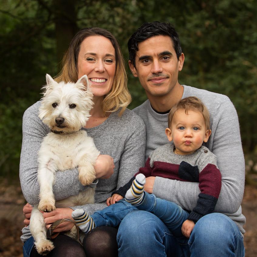 Family Portrait Dog Toddler Box Hill