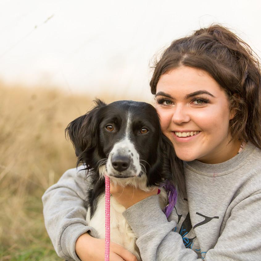 Daughter and Dog Portrait Surrey