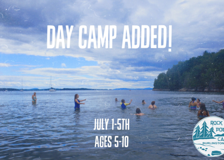 Rock Point Camp Adds New Day Camp: July 1-5, Ages 5-10