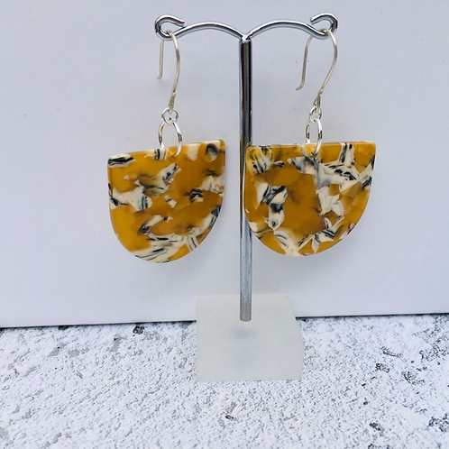 Miami Art Deco inspired collection- vintage mustard and white drops
