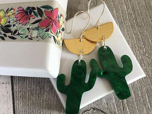 Perspex Unique Cactus Earrings