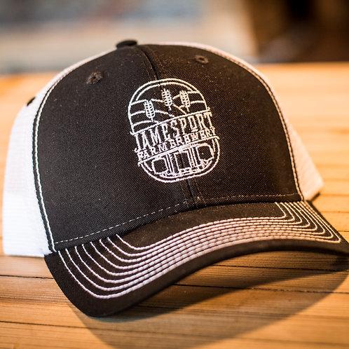 JFB Logo Black & White Contrast Stitch Hat