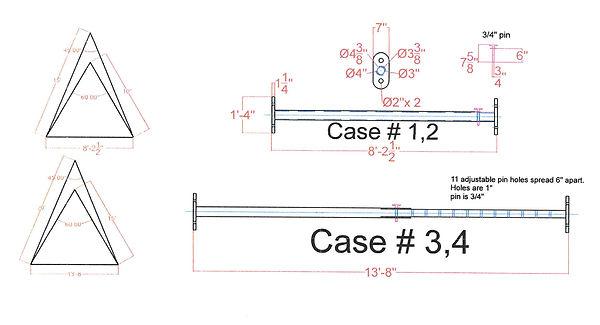 "13' x 8"" Adjustable Spreader Beam - Atlantic Crane"