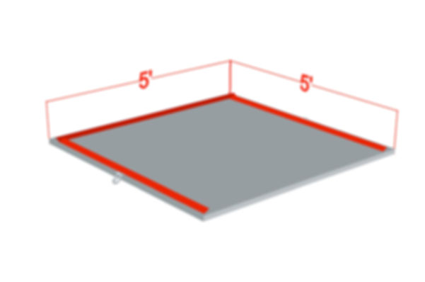 """5' x 5' x 1 3/8"""" Outrigger Pad"""
