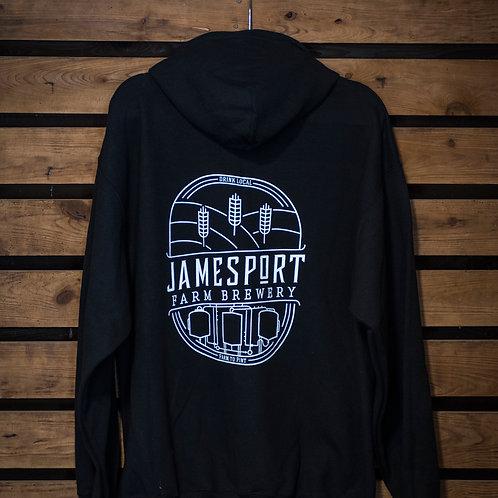 JFB Logo Black Zipper Hoodie