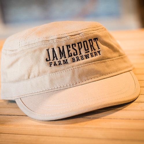"""Jamesport Farm Brewery"" Khaki Military Cap"