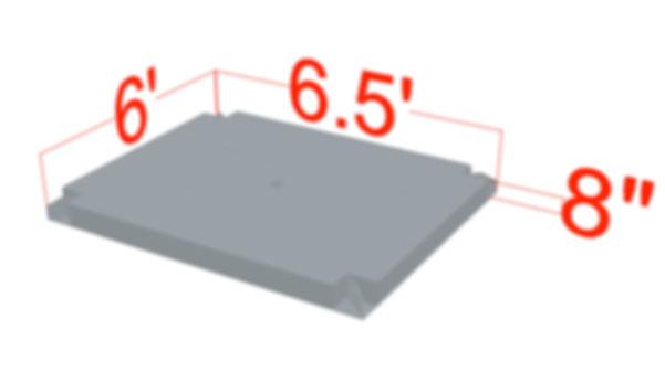 6' x 6.5' x 8' Outrigger Mat