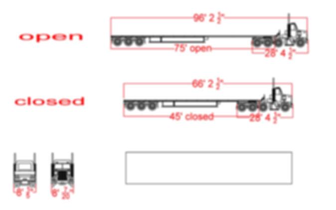 Extendable Trailer w/ Triple Axle-T880