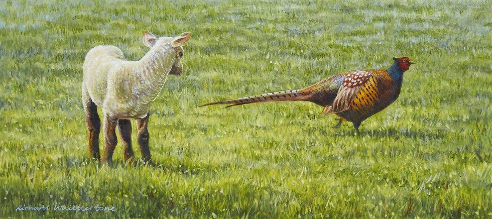 First Encounter Print by Wildlife Artist Richard Whittlestone
