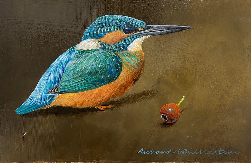 Kingfisher with Rosehip