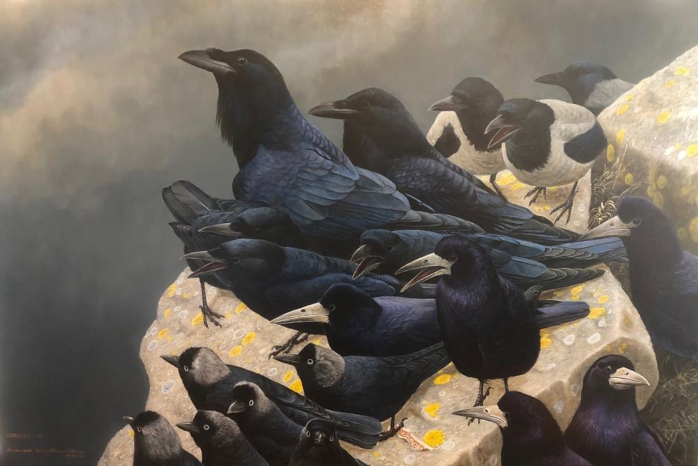 CORVID-19 Painting by Richard Whittlestone