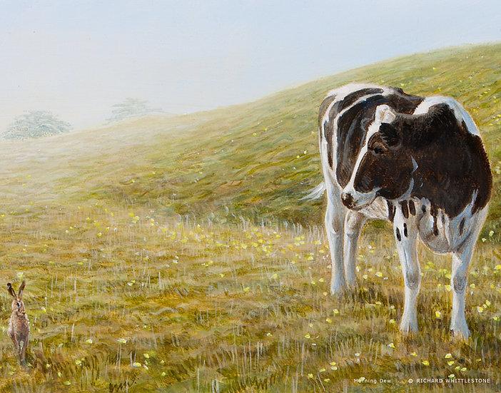 Morning Dew Print by Wildlife Artist Richard Whittlestone