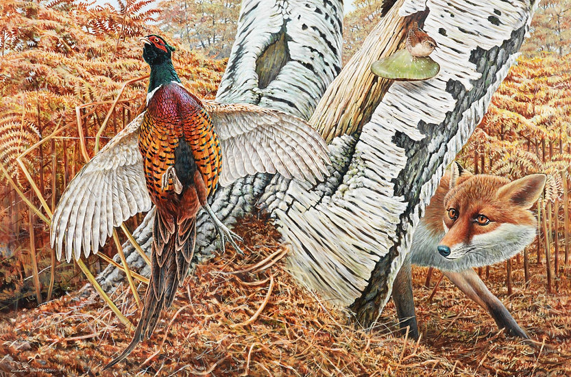 Lost Supper Bird Print by Wildlife Artist Richard Whittlestone