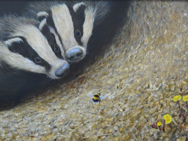 Richard-Whittlestone-Prints-Young-Badgers