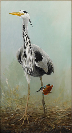 Fisherkings Bird Painting by Wildlife Artist Richard Whittlestone
