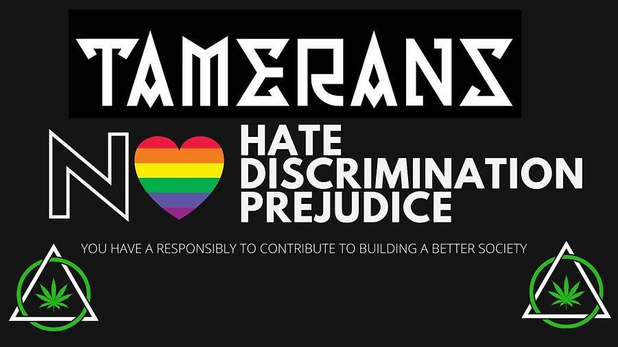 Black and White No Hate Pride Virtual Zo