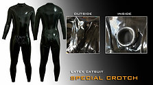 Special crotch Latex Catsuit