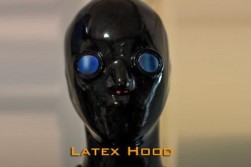 Latex hood with lens