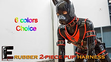 Rubber-2piece outfit