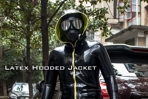 Hooded jacket Latex Catsuit