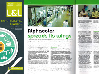 Alphacolor é destaque na Revista Internacional Labels and Labeling
