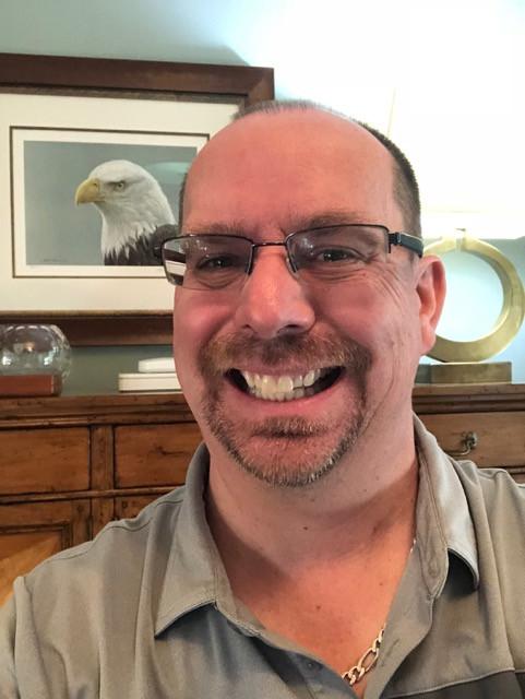 Selfie with Robert Batemen's Bald Eagle Print