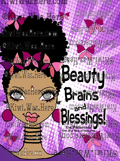 Beauty Brains Blessings Downloadable Tablet Wallpaper