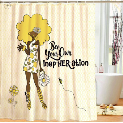 Bee Your Own InspHERation Shower Curtain