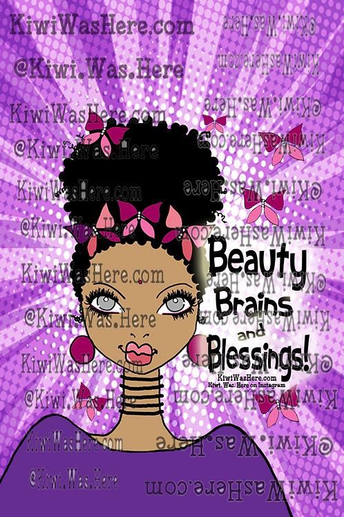 Beauty Brains Blessings Downloadable Phone Wallpaper