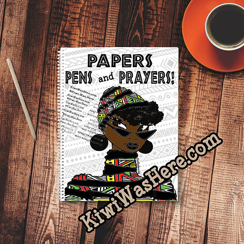 Papers Pens Prayers - Notebook