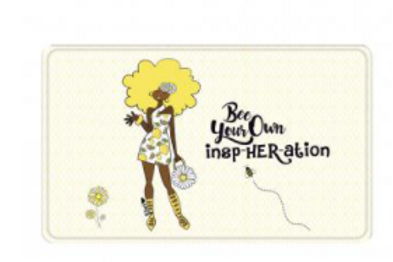Bee Your Own InspHERation Bath Mat