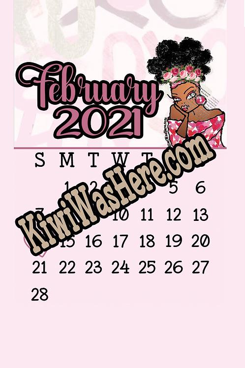 February Valentines Downloadable Desktop Wallpaper